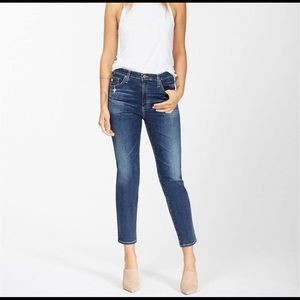 AG-ED Denim. The Isabelle high rise straight crop